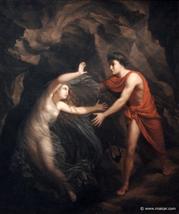 his wife while leaving the Underworld   5125  Orpheus and Eurydice    Orpheus And Eurydice