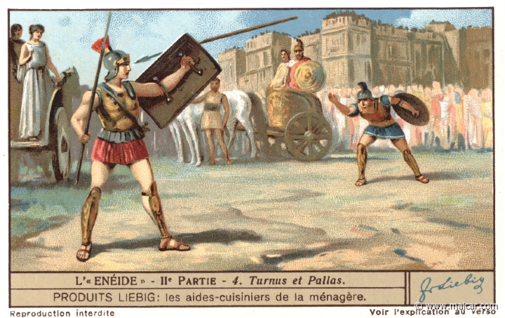 a comparison of aeneas and turnus The aeneid characters from litcharts | the creators of sparknotes  the beloved son of evander, he fights for aeneas and is killed by turnus in book 10.